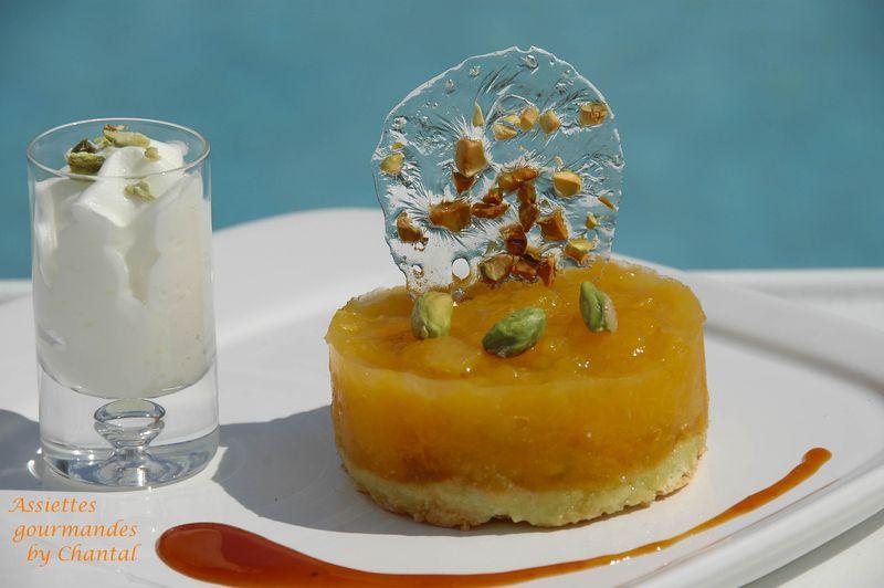 Entremet abricot et espuma amande amère