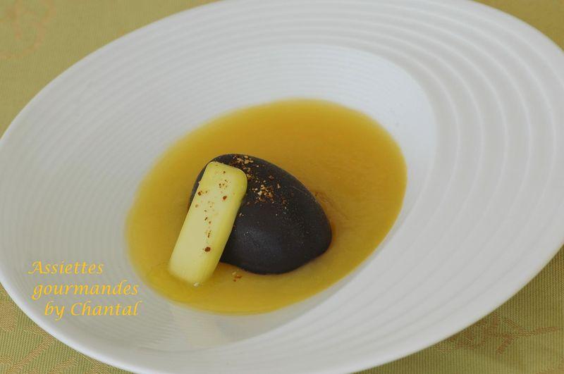 Dessert chocolat, orange et huile d'olive (Inaki Aizpitarte)
