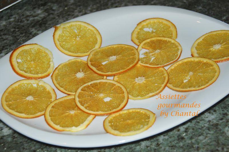 Cristallines d'orange (tranches d'orange séchées au four)
