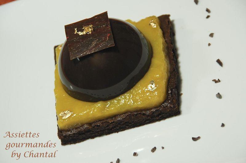 Dessert chocolat mangue