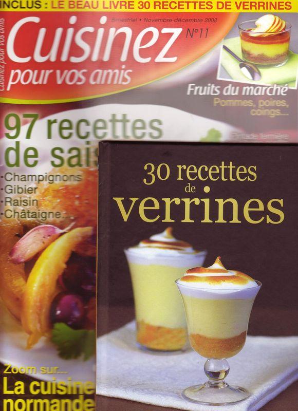 """Mes recettes dans le magazine """"Cuisinez pour vos amis"""""""