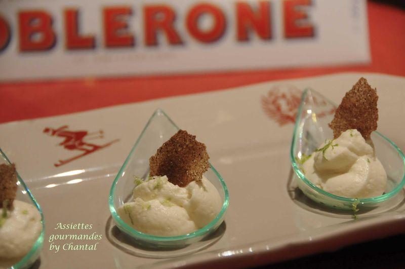 Mousse au chocolat Toblerone blanc