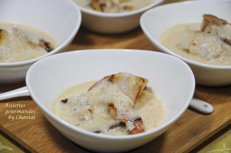 Poêlée de Saint-Jacques à l'émulsion de foie gras