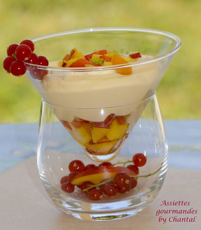 Tiramisu aux fruits d'été et verveine