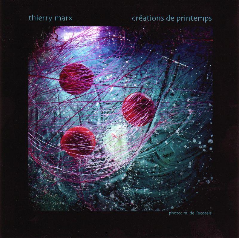 Thierry Marx: carte et menus 2009