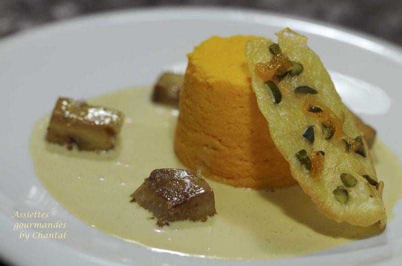 Dariole de potiron, sauce au foie gras... et un mixeur Multi Quick Braun à gagner pour les lecteurs du blog!