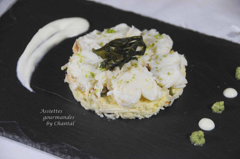 Céleri rémoulade aux algues, queue de langouste