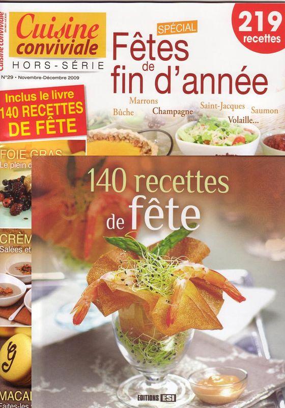 Magazines pour des recettes de fêtes
