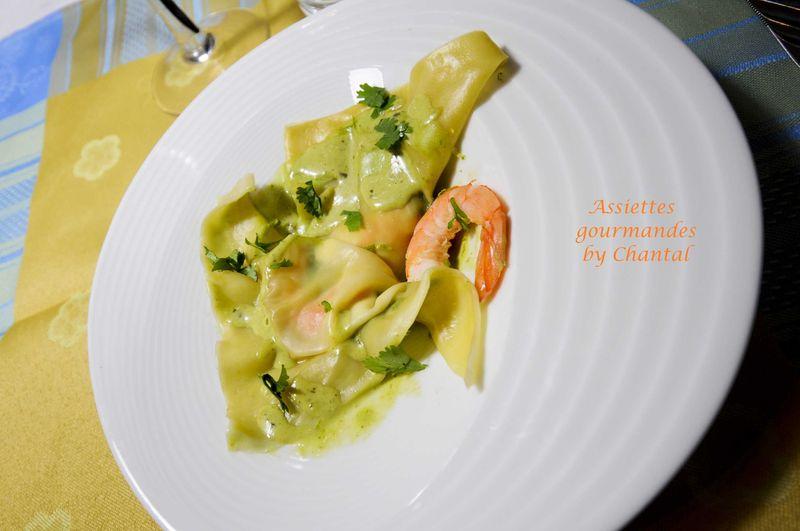 Ravioles de langoustines au citron vert
