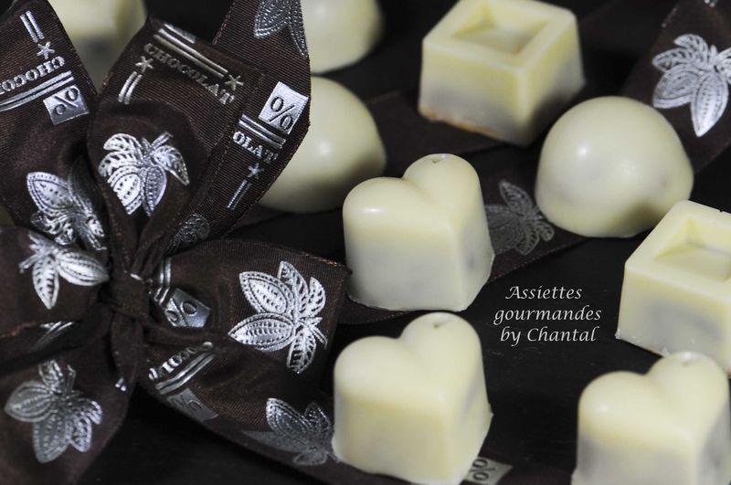 Chocolats blancs, pistache et/ou réglisse