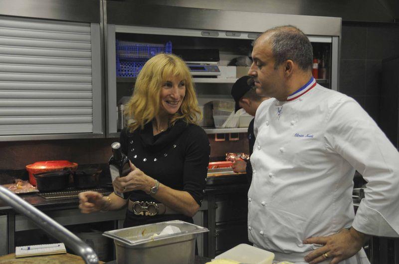 Dans les cuisines d'Olivier Nasti au Chambard...