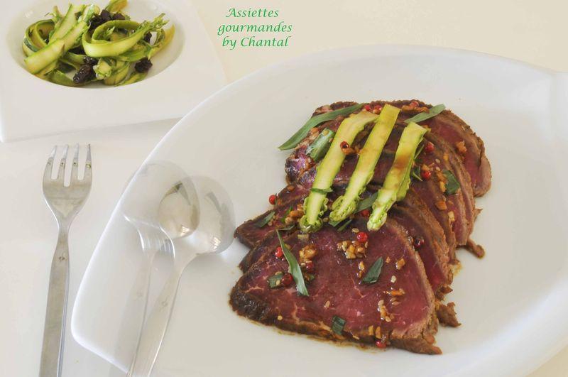 Tataki de boeuf et salade d'asperges