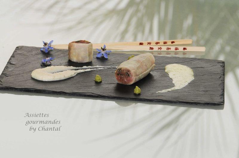 Recette pour Thierry Marx: Cannelloni de céleri, tartare veau huître, et crème douce de céleri