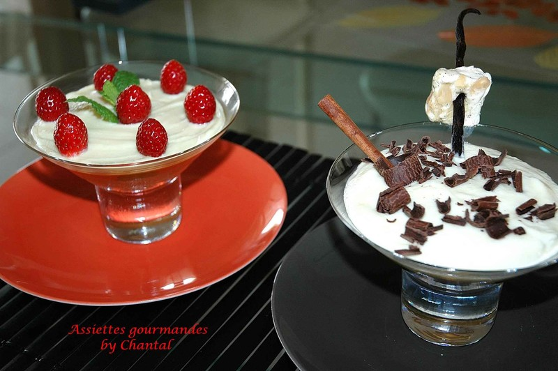 Dessert: le Rouge et le Noir