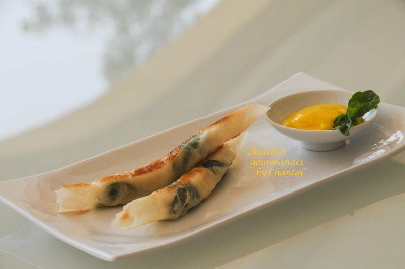 Croustillants de poisson à la vinaigrette de mangue (recette de Mickaël Féval)