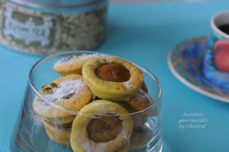Biscuits moelleux pistache et banane caramélisée au sucre muscovado