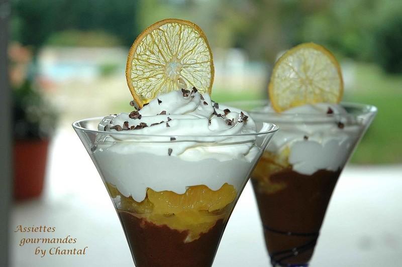 Capuccino de chocolat crémeux et oranges au poivre de Séchuan