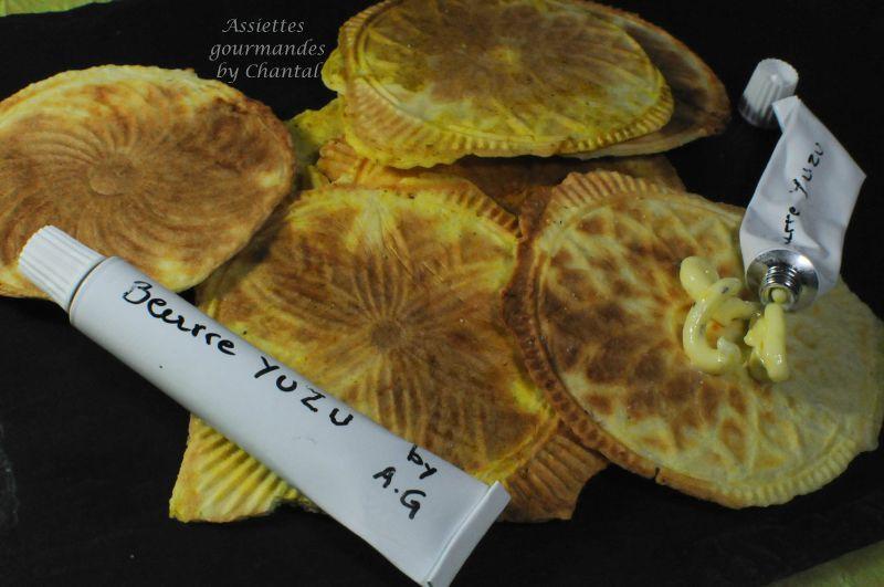 Galette croustillante iodée (Bricelets) et beurre au yuzu