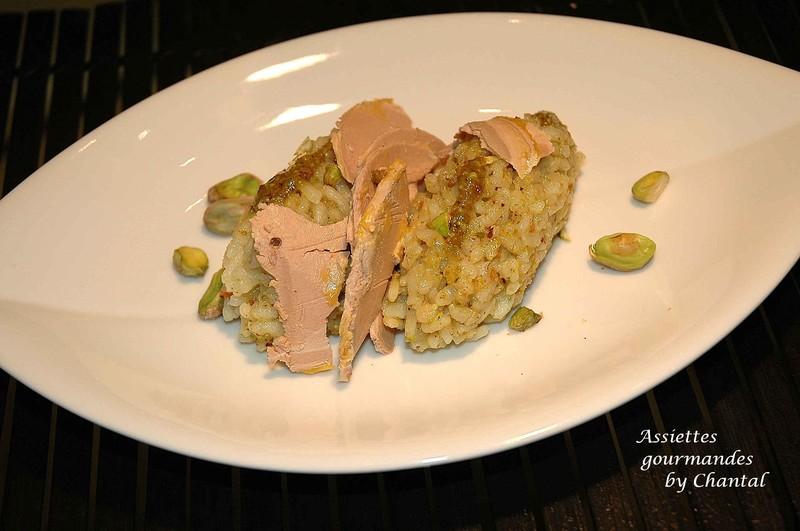 Risotto aux pistaches et foie gras