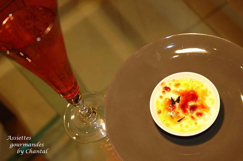 Crème brûlée à la truffe pour mise en bouche festive