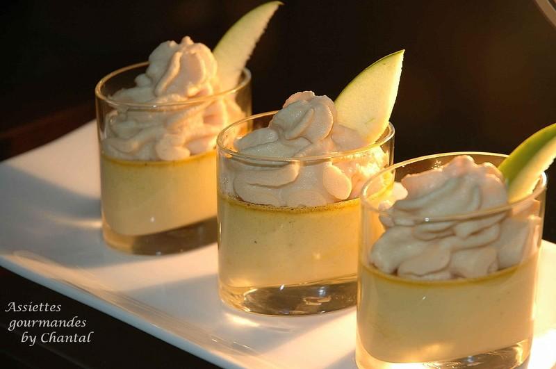 Crème brûlée de foie gras, espumas de pomme verte version Anne-Sophie Pic