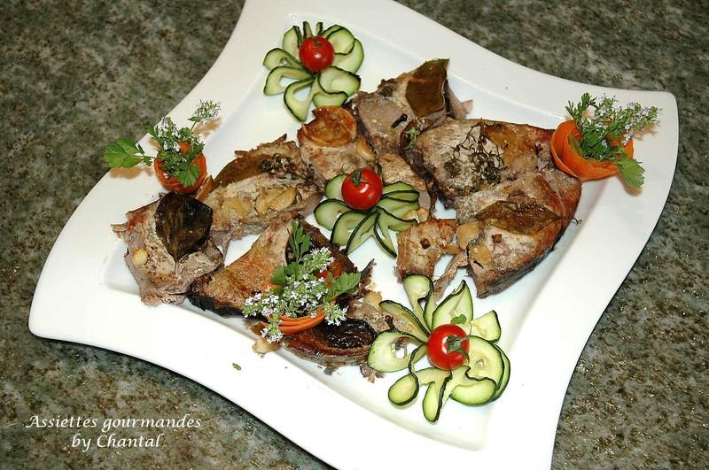 Thon confit à l'huile d'olive et son tian d'aubergines