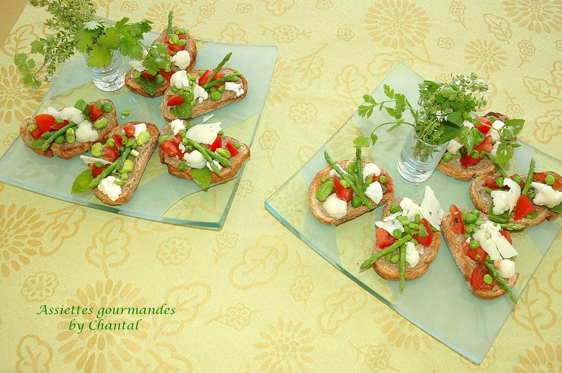 Tartine à l'anchoïade...et tous les légumes du moment