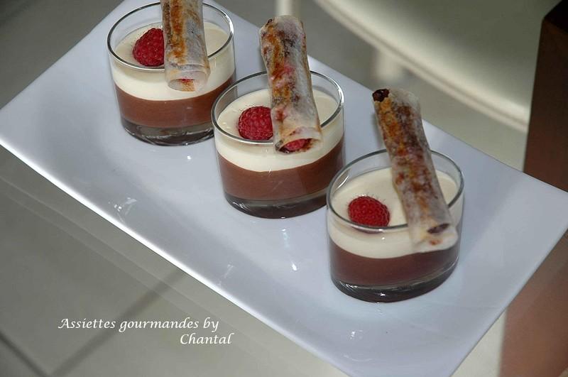 Nems croustillants chocolat framboises