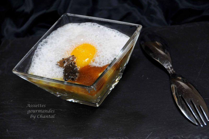 Purée de rattes, oeuf poché et émulsion à la truffe (recette des Frères Pourcel)