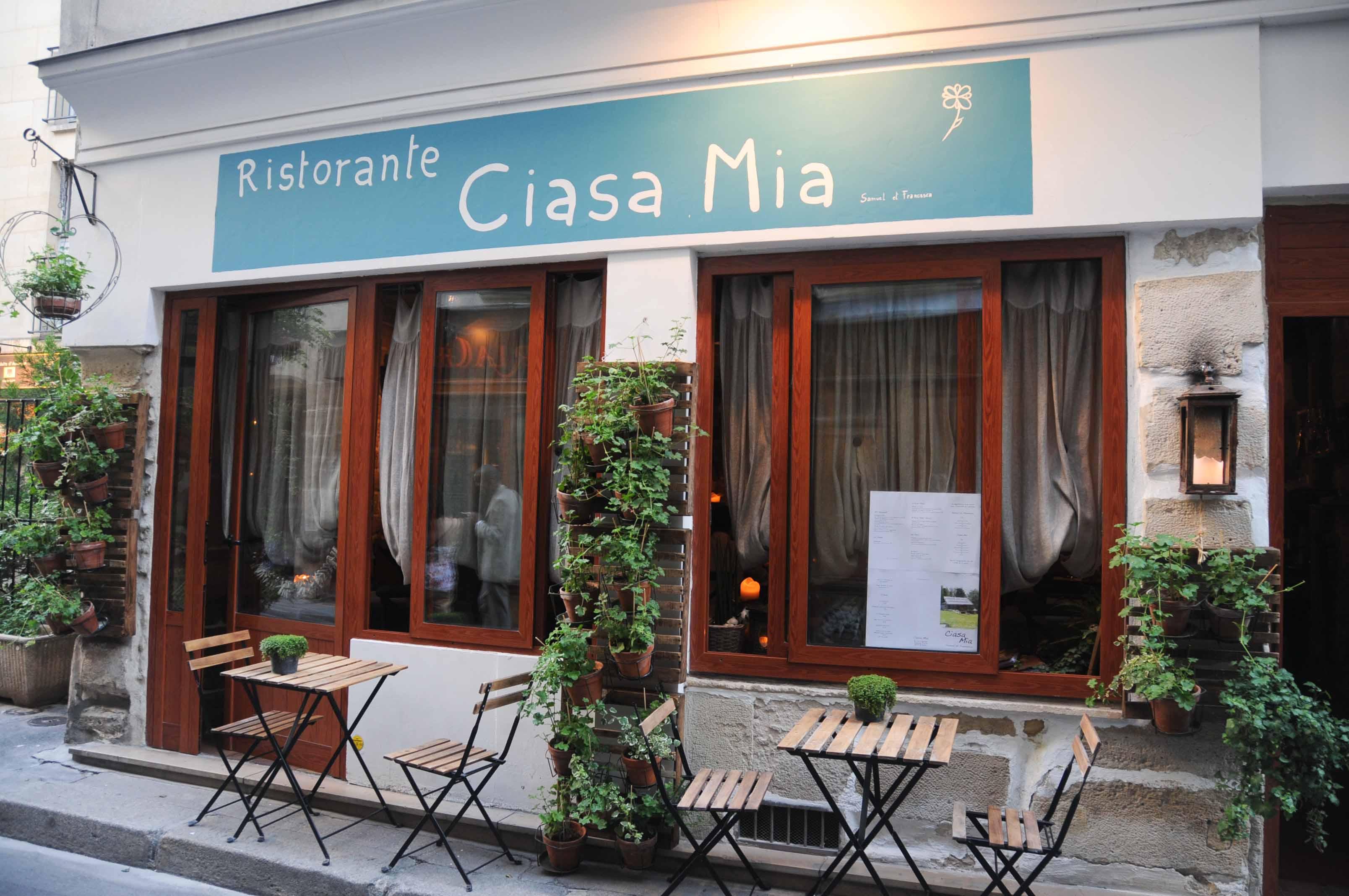 Dîner au Restaurant Ciasa Mia à Paris