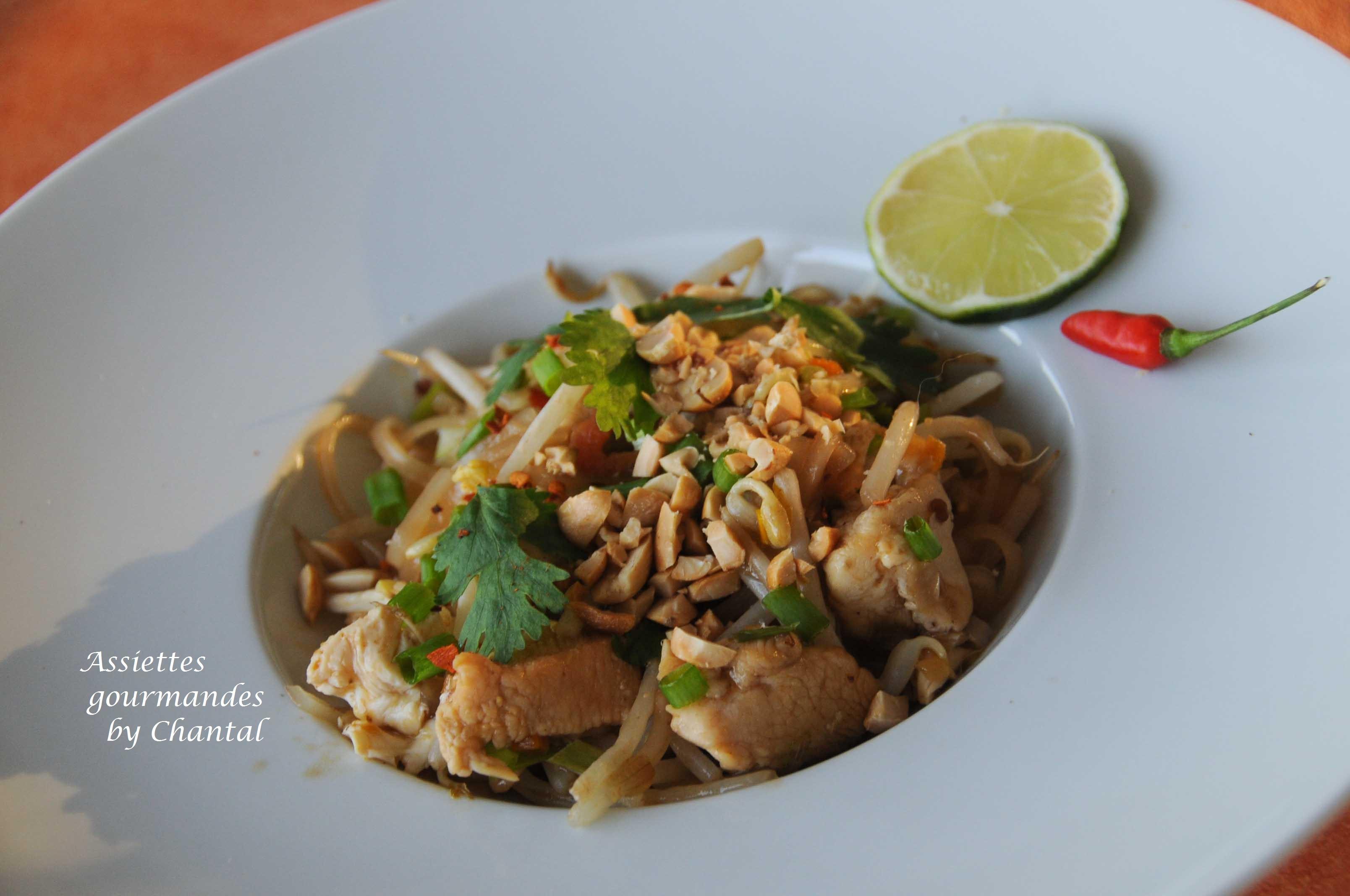 Pad Thaï - Nouilles de riz sautées - Cuisine Thaï