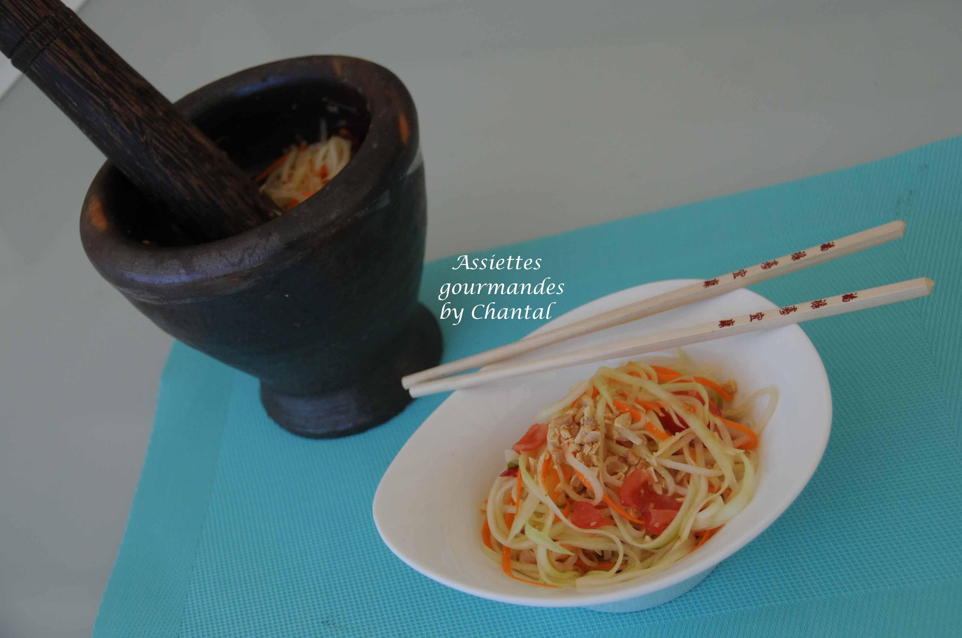 Salade de papaye verte - Cuisine thaïe