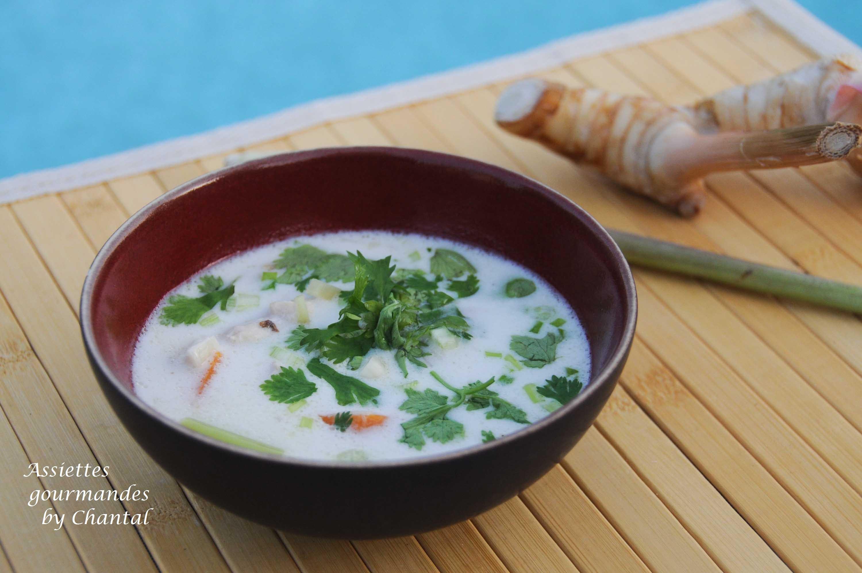 Tom Ka Kaï ou soupe lait de coco poulet - Cuisine Thaï