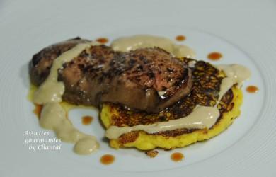 Blinis de maïs au foie gras (recette de Marc Meneau)