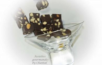 Fudge chocolat amandes