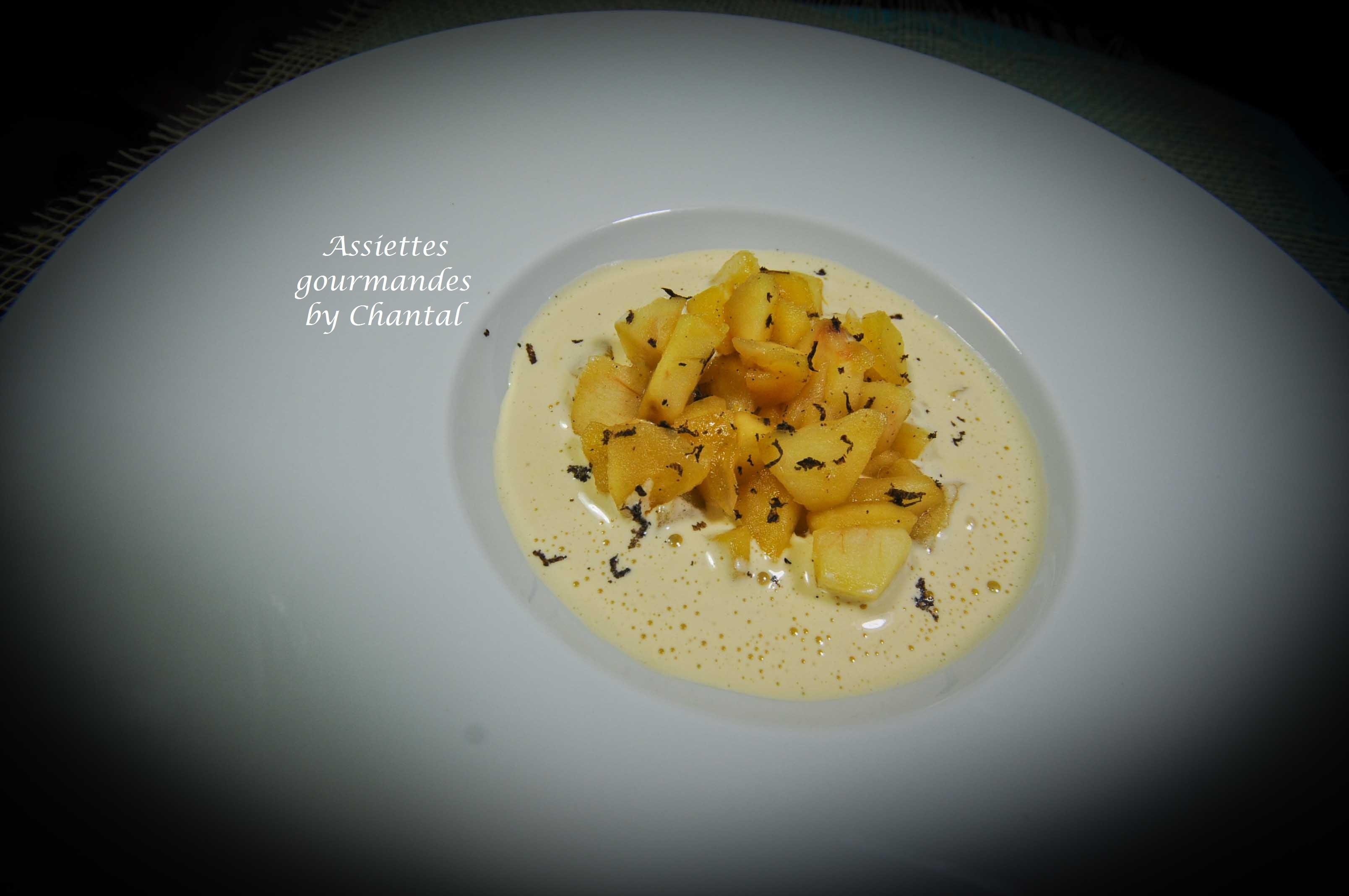La truffe, ça se mange aussi en dessert! Pommes, sabayon et truffe