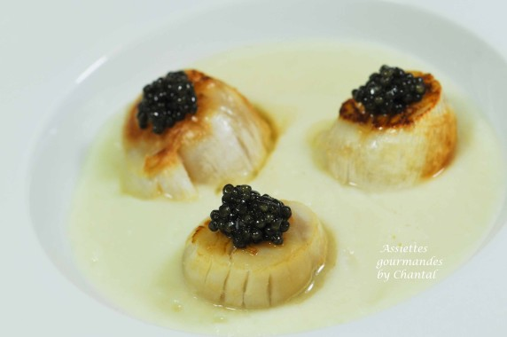 saint jacques caviar