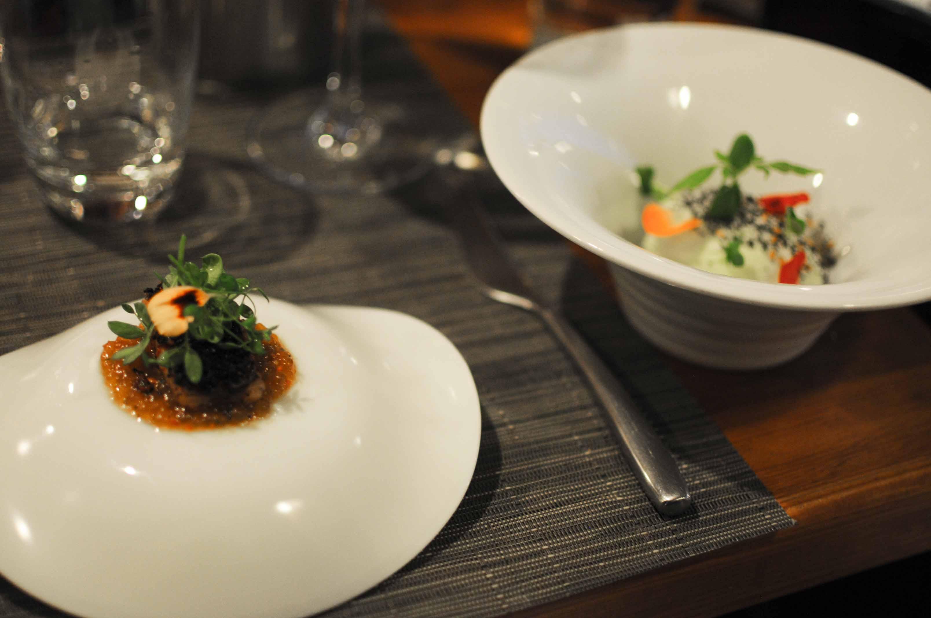 Dîner chez Alexandre Mazzia, au Restaurant le Ventre de l'Architecte à Marseille