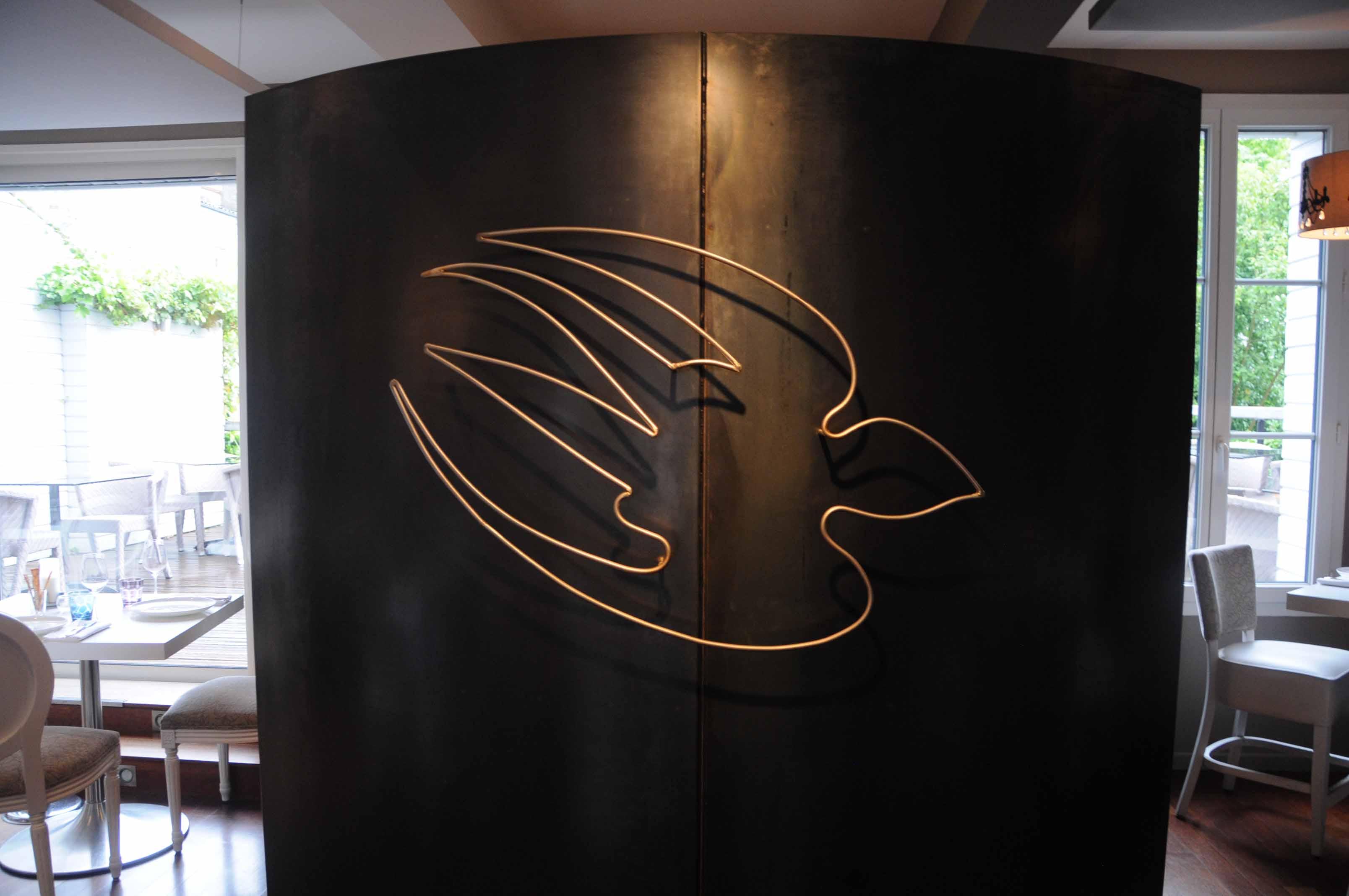 Dîner au restaurant l'Oiseau Bleu à Bordeaux... avec l'ami Pierrot!