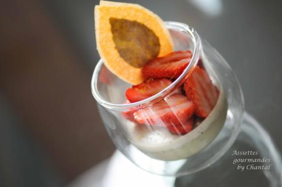 panna cotta basilic fraise