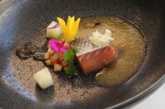 Restaurant Passions et Gourmandises, Saint-Benoit, Poitiers (18) - saumon basse temperature