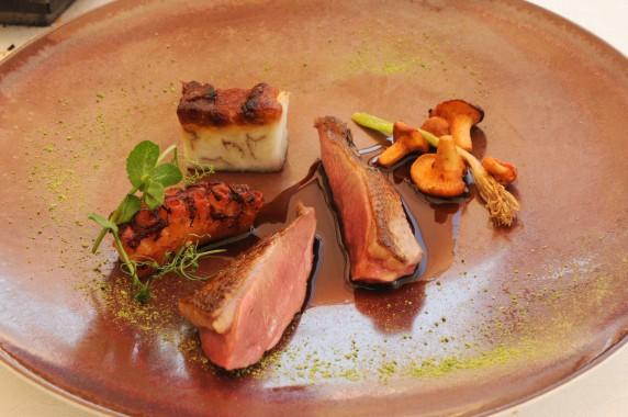 Restaurant Passions et Gourmandises, Saint-Benoit, Poitiers (40) - pigeon cuit au foin
