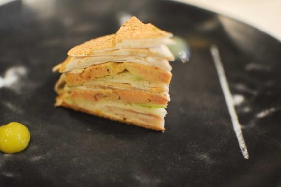Pascal Barbot - l'astrance - Millefeuille chanpignons foie gras