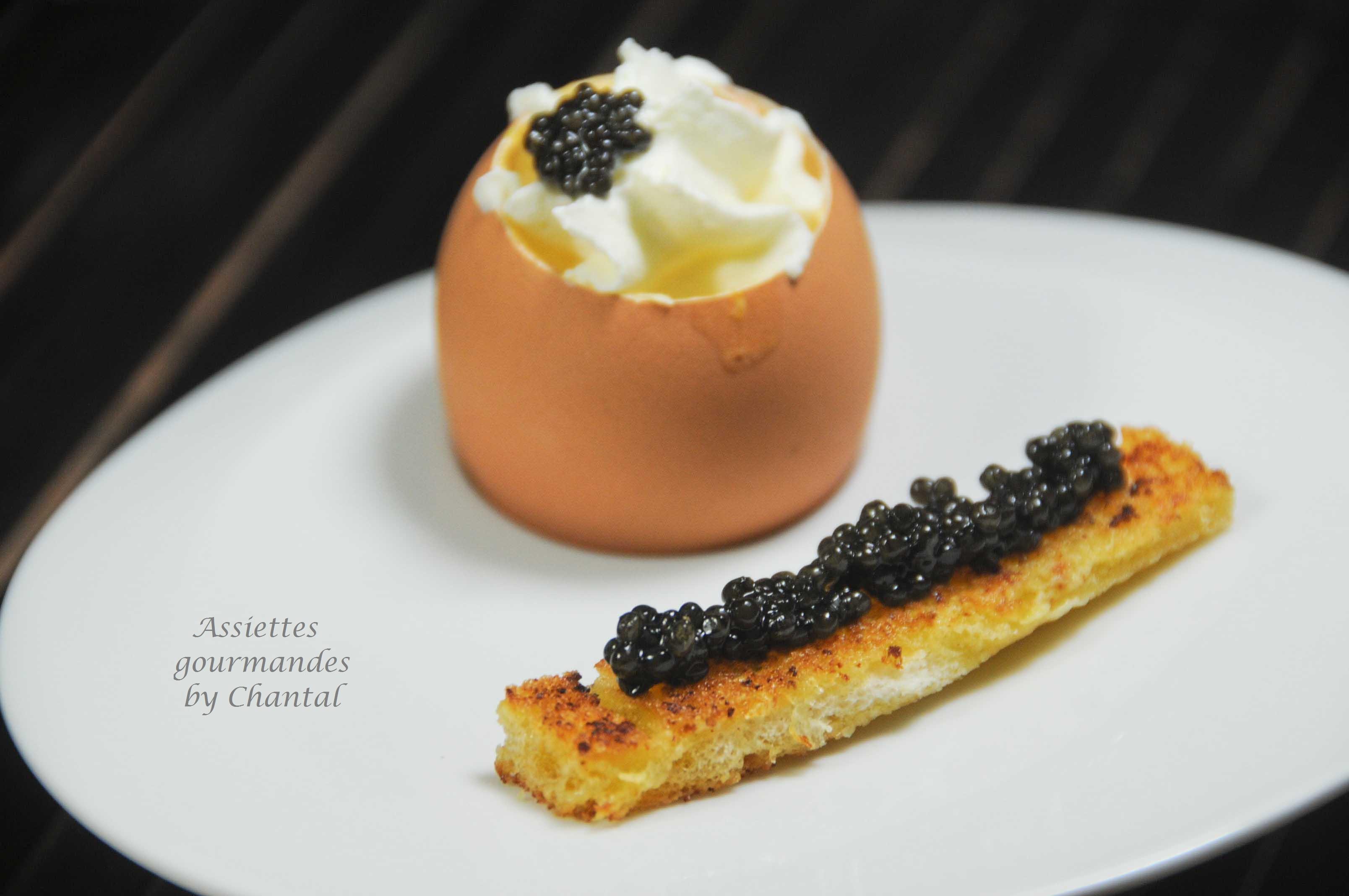 Brouillade d'oeufs et caviar