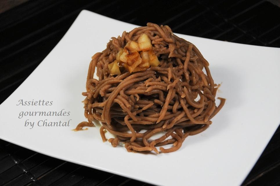 Mont-Blanc version pommes caramélisées