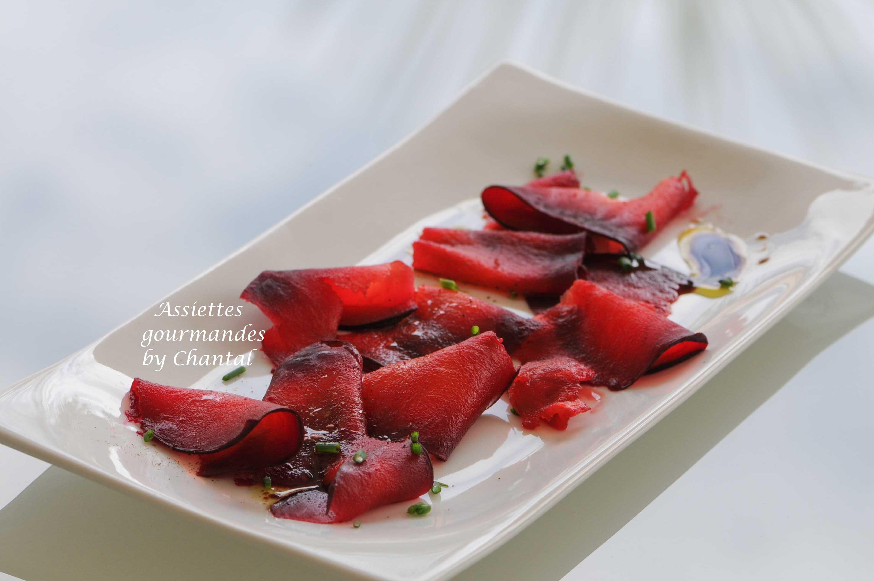 Betterave en croûte de sel - Salade de betteraves - Alain Passard