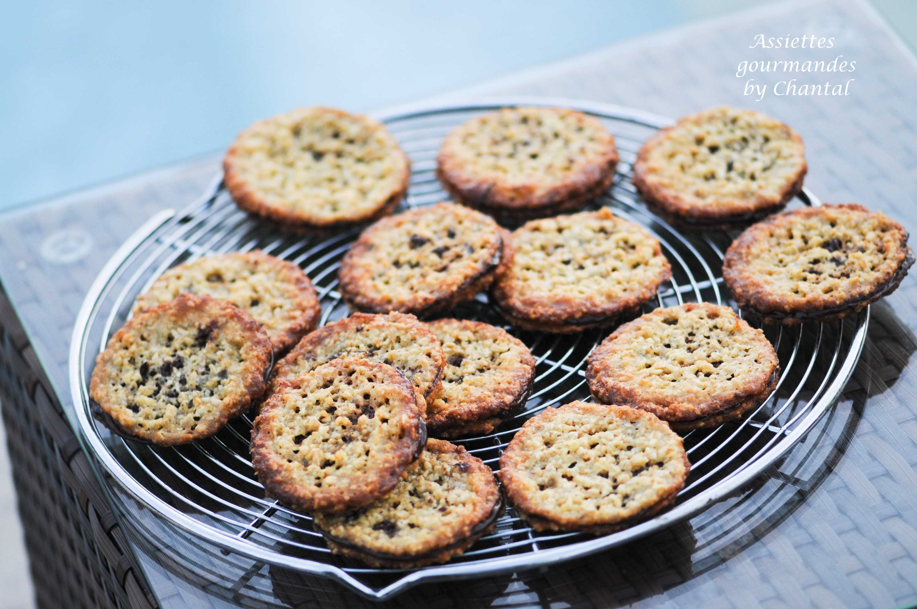 Biscuits suédois aux flocons d'avoine et chocolat