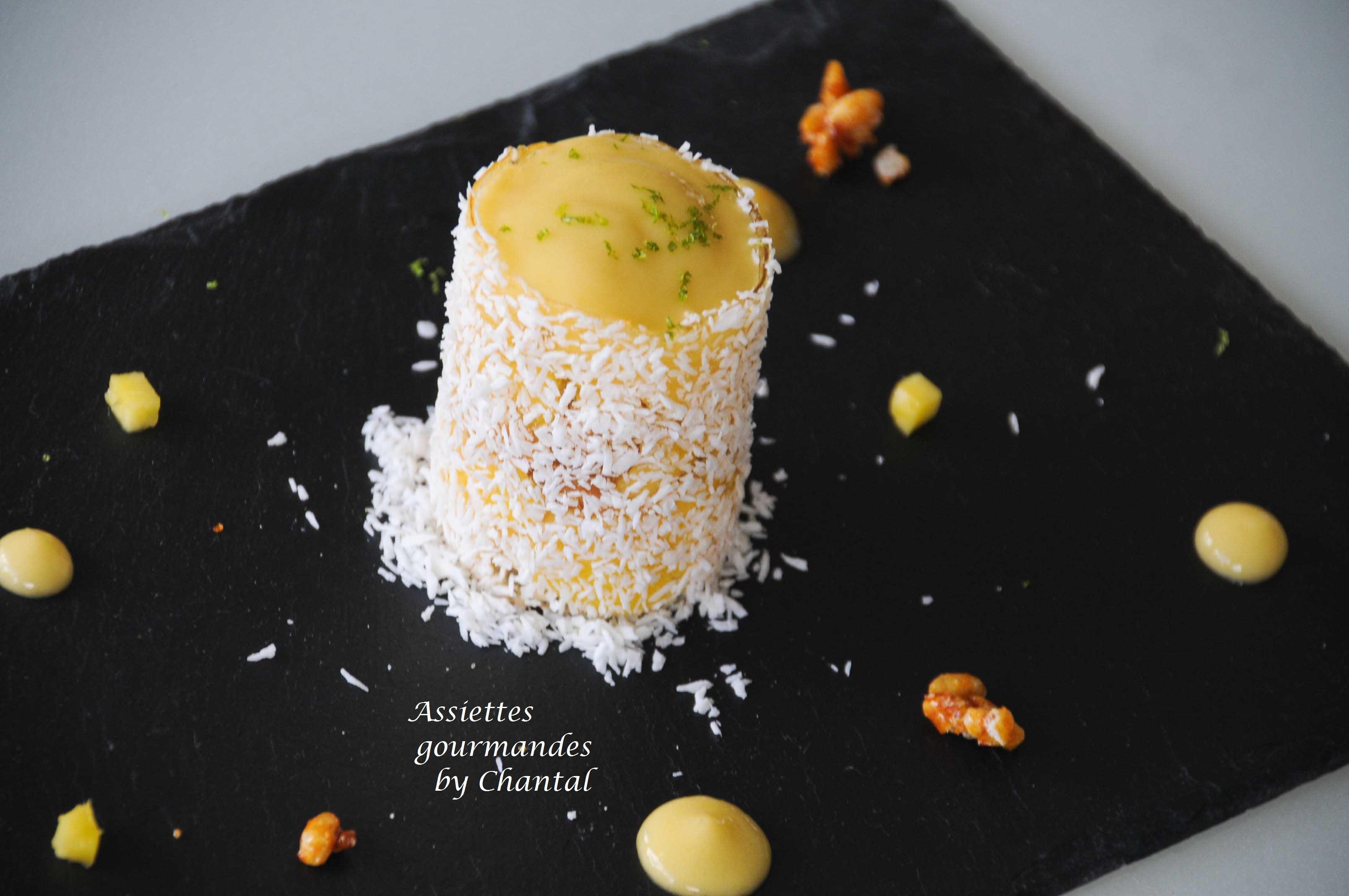 Recette de Christelle Brua : Dessert coco mangue