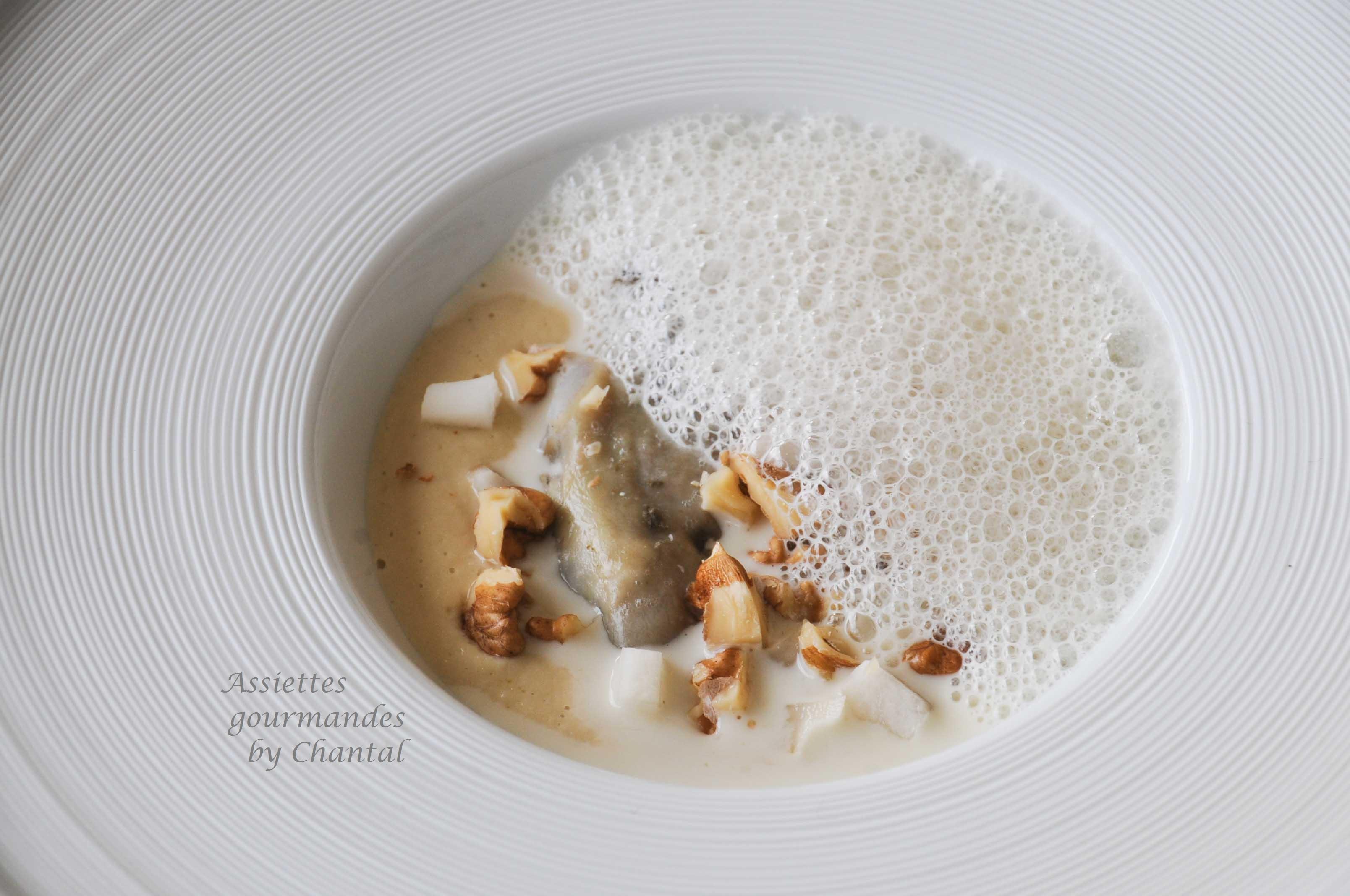 Hu tre poch e topinambour et foie gras mulsion au vin - Faire une emulsion en cuisine ...