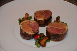 Ballotine foie gras pigeon